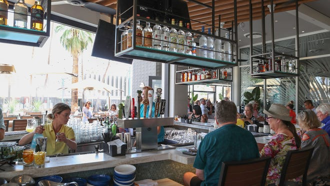 The newly opened Tommy Bahama Marlin Bar in downtown Palm Springs, May 11, 2018.