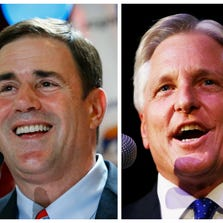 Gubernatorial candidates Doug Ducey (left) and Fred DuVal will face off Sept. 10 on the economy.