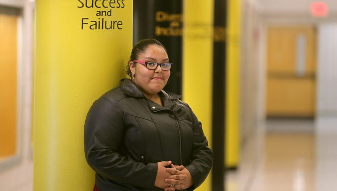 School 8 officials helped Aracely Lopez resolve issues outside of school which kept her out of class last year.  This year, the 8th-grader has improved her attendance and is excelling in the classroom.