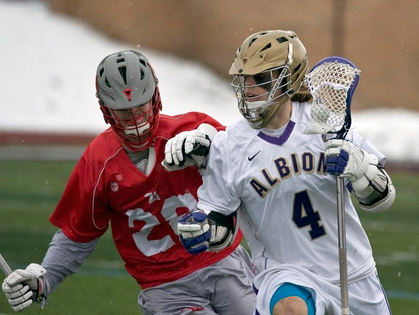 Zach Hubbell has contributed to a 13-4 mark for Albion, which will play in the NCAA tournament this week.