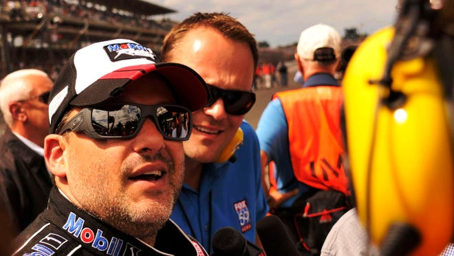 Tony Stewart pulled out of a scheduled sprint car race in Plymouth, Ind., in the aftermath of his tragic crash Saturday.