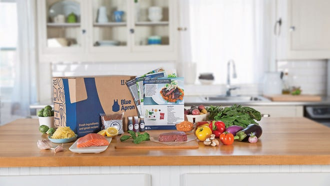 Blue Apron provides every ingredient for dinner, down to the herbs and spices.