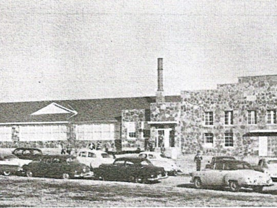 Mountain Home High School — now Pinkston Middle School — in the late 1950s.