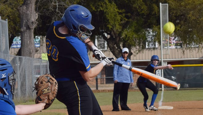Buckeye catcher Shae Schreckengost (30) was one of three Central Louisiana players to make the LSWA Class 3A All-State team.