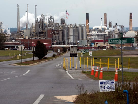 Ascend Performance Material operates as usual Wednesday, Nov. 22, 2017. A recent environmental study cites the chemical company at a top polluter in the area.
