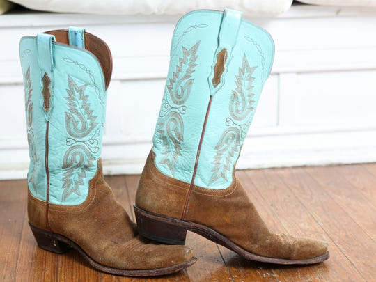 """Howe has has her Duchesse cowboy boots for 15 years. """"They speak for themselves,"""" Howe said. M"""