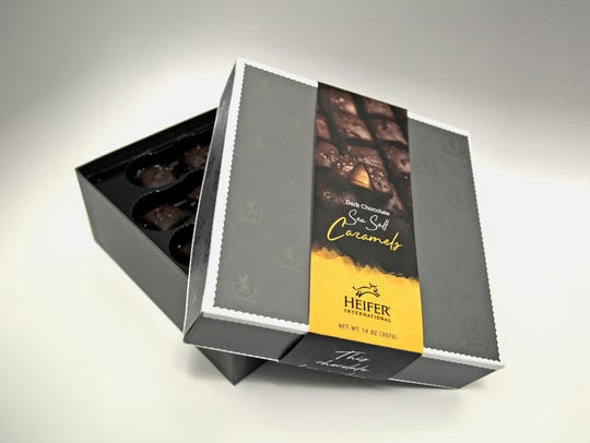 Pictured is a box of Ecuadorian chocolate covered sea