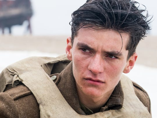 "Fionn Whitehead in a scene from the film ""Dunkirk."""