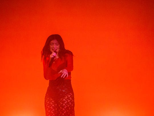 Lorde performs in Wells Fargo Arena on Sunday, March