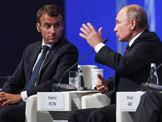 Putin Macron