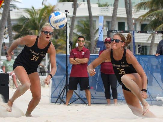 Florida State seniors Katie Horton and Hailey Lueck