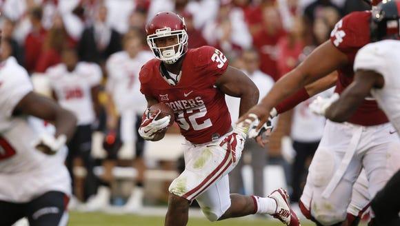 Oklahoma running back Samaje Perine says Auburn is