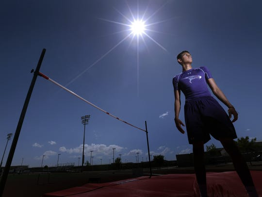Eastlake high jumper Milo Rios will compete this weekend
