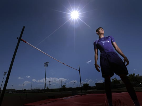 Eastlake high jumper Milo Rios will compete this weekend at the state track and field meet in Austin. The junior has a high jump of 6-feet 9-inches.