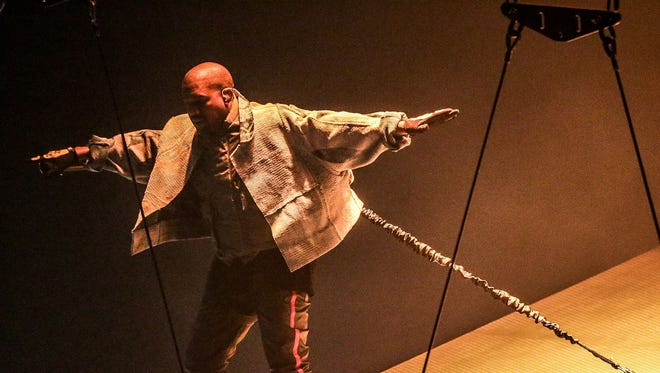 Kanye West performs Thursday night at Bankers Life Fieldhouse.