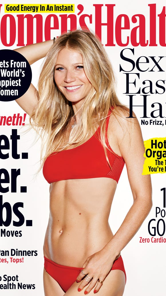 Gwyneth Paltrow on the April cover of 'Women's Health'