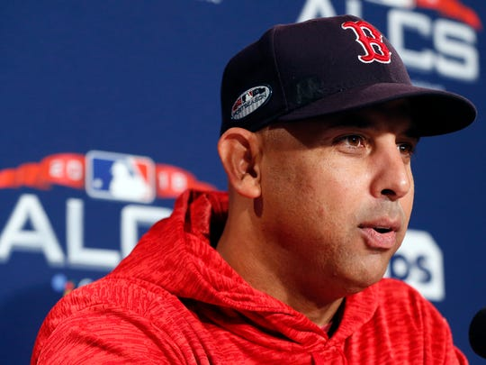 Alex Cora has managed the Boston Red Sox into the World Series in his first year.
