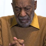 In this file photo, entertainer Bill Cosby pauses during a news conference.