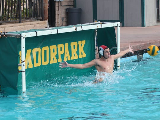 Moorpark goalie Freddie Houghton provides his team