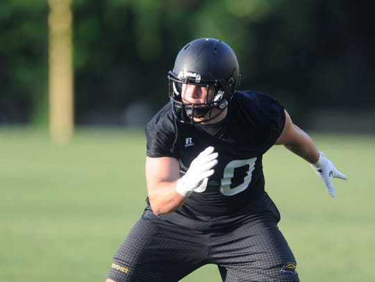 Southern Miss linebacker Paxton Schrimsher made five