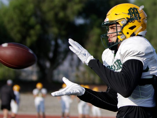 Moorpark's Drake London was named the Receiver of the Year for the Camino League.