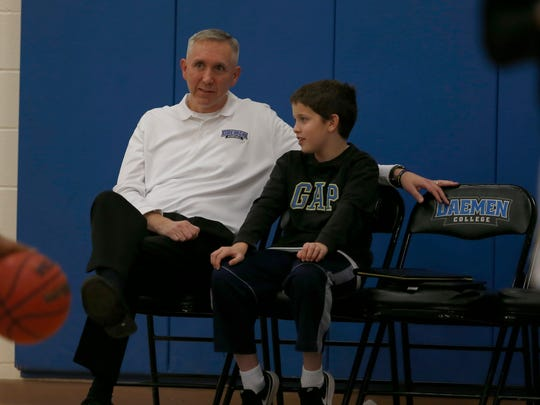 Mike MacDonald, men's basketball coach at Daemen College,