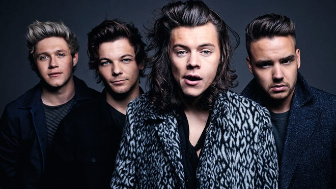 Niall Horan, left, Louis Tomlinson, Harry Styles and Liam Payne of One Direction. The British-Irish boy band releases its fifth album, 'Made in the A.M.,' on Friday.