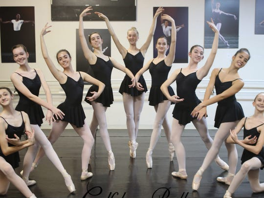 Eleven dance students with the Gulfshore Ballet are