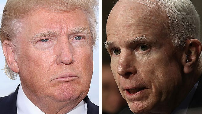 """Speaking at CPAC, President Donald Trump once again went after Sen. John McCain for sinking a GOP plan to undo """"Obamacare"""" last year."""