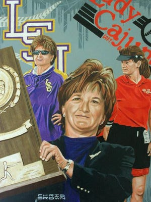 Yvette Girouard is shown in her official Louisiana Sports Hall of Fame portrait.