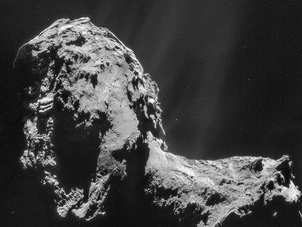 The Rosetta orbiter has been analyzing the water content of Comet 67P/Churyumov-Gerasimenko since rendezvousing in August 2014.