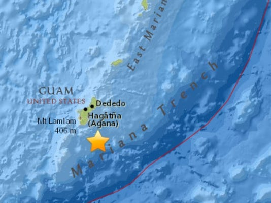 Guam earthquake