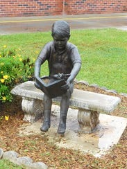 Conley's existing sculpture of a little boy will now