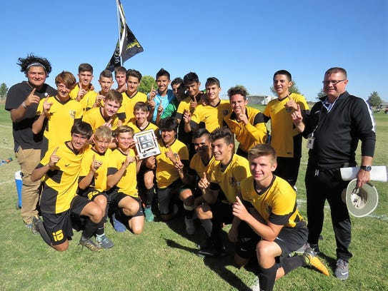 The Alamogordo boys' soccer team captured the District
