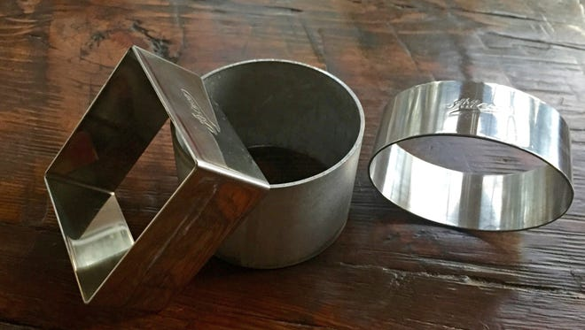 Ring molds can be round, square and other shapes and of varying heights.