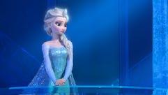 The real Elsa in 'Frozen.'