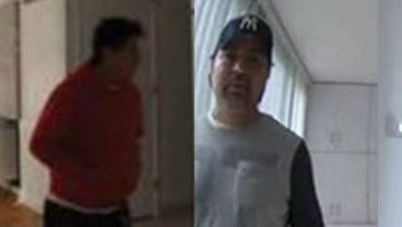 Two of the men sought in connection with the burglary