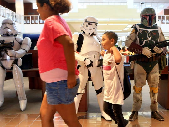 Corpus Christi Public Libraries will host Star Wars Reads Day from 10 a.m. to 1 p.m. Saturday, Oct. 14 at La Retama Central Library, 805 Comanche St.