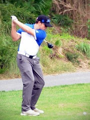 Stephen Decatur's Matt Kinsey takes a swing on Thursday, Oct. 6 at the Bayside Championships at Glen Riddle.
