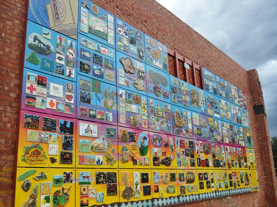The Arts for All Community Mural was displayed in June 2017, at Eighth and Ohio.