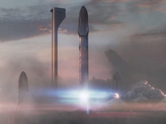 SpaceX's Interplanetary Transport System.