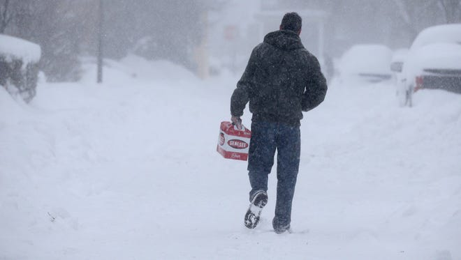 Andrew Jones plans to make the best of a bad situation as much of Rochester remains snowed in Wednesday.