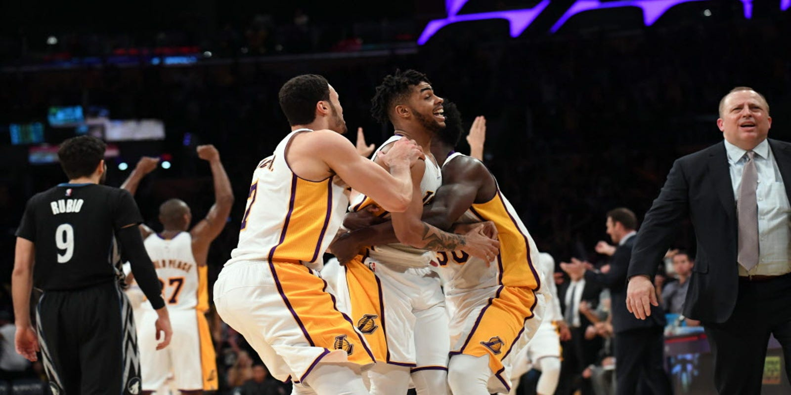 Emotional D Angelo Russell lifts Lakers over Timberwolves at buzzer 7fe35ba9b