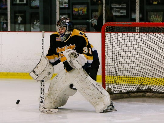 Stephen Ward-Brown made 30 saves for Grand Ledge/Fowlerville in a 9-3 victory over Fenton/Linden on Wednesday.