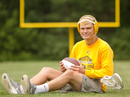 Hartland's Reece Potter was all-state in wrestling and lacrosse after making second-team all-county in football.