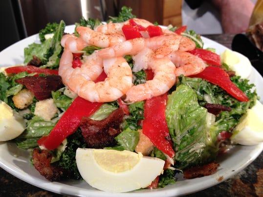 Bacon and egg kale Caesar salad