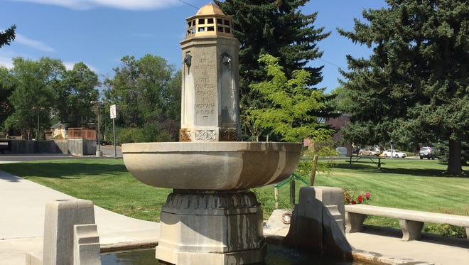 The Confederate Fountain in Hill Park in Helena.