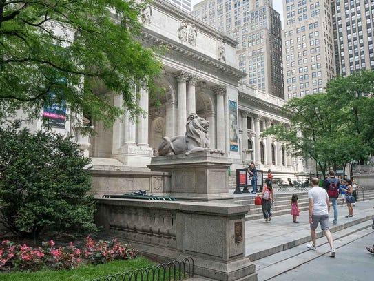 Stone lions and other New York Public Library attractions