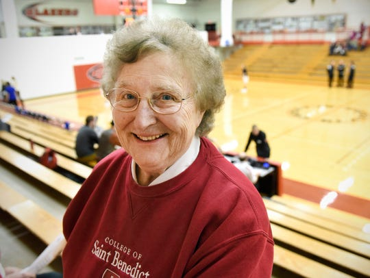 Sister Lois Wedl regularly watches the College of St.