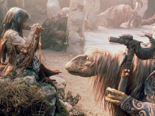 "A scene from ""The Dark Crystal,"" returning to theaters"